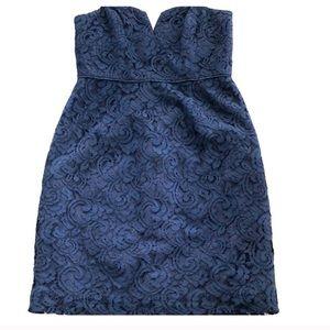 J. Crew Lace Strapless Dress